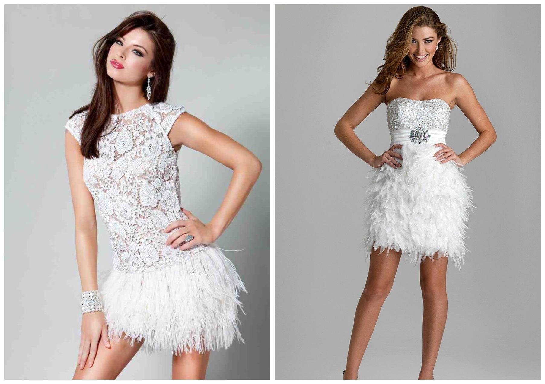 Девушки в белых платьях