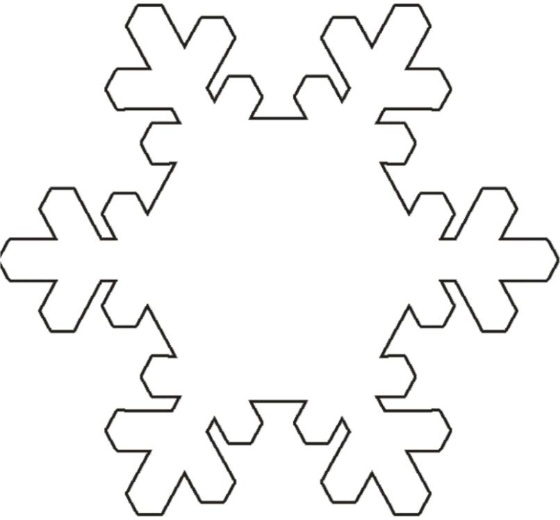 Снежинка для вырезания