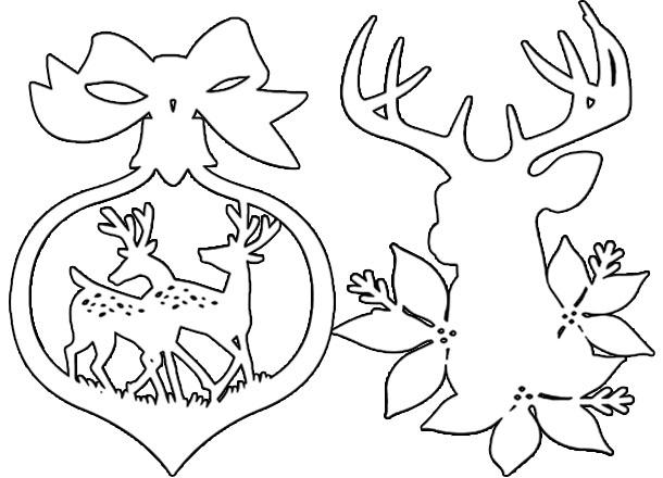 Игрушки на елку или окно из бумаги