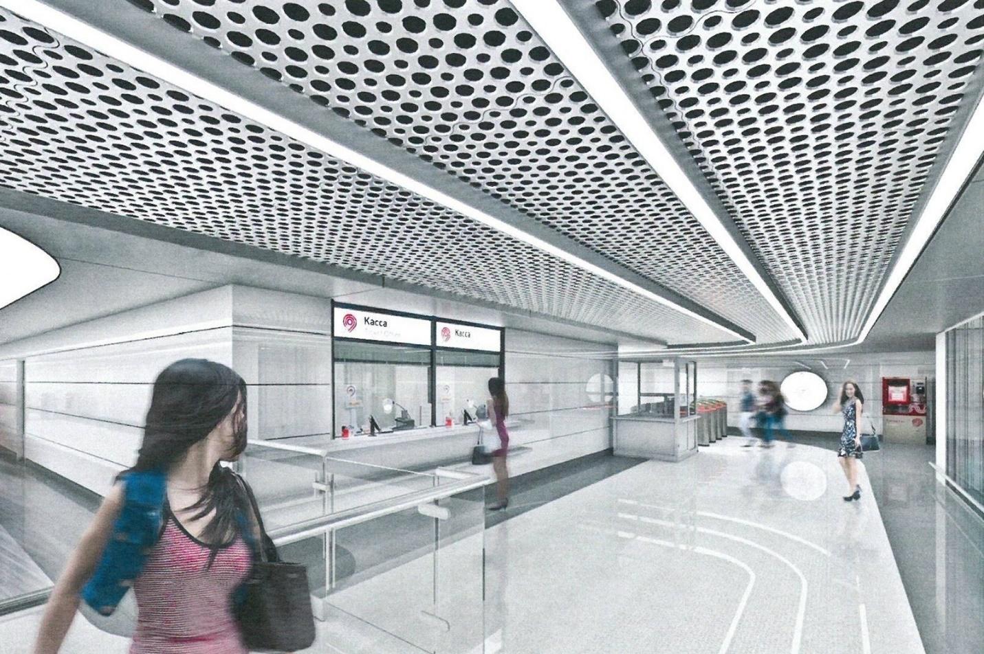 Необычный потолок с отверстиями на станции метро