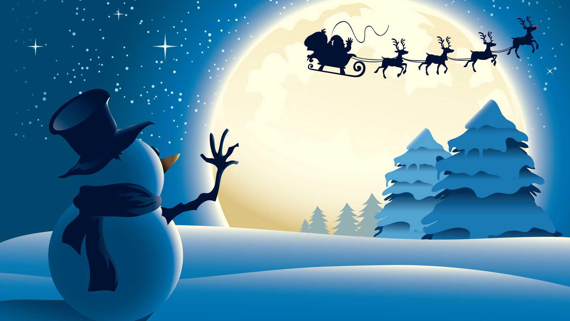 Снеговик и санта клаус