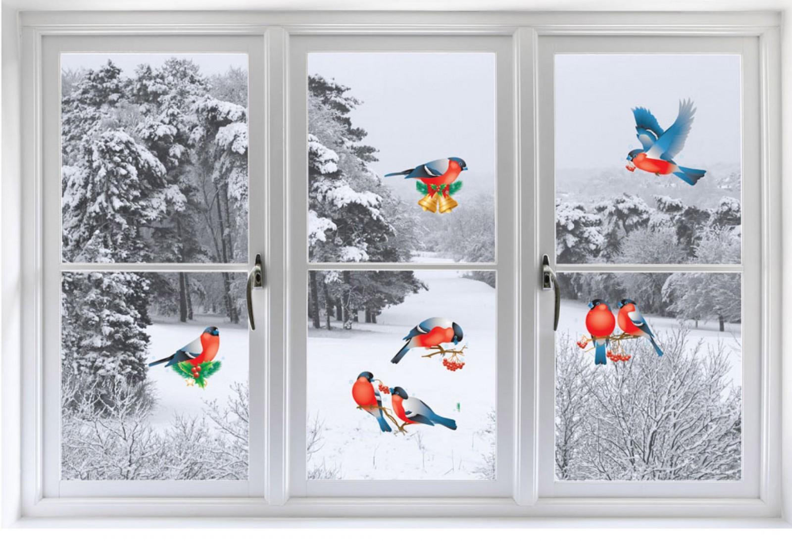 Украшения на окна, Новый год