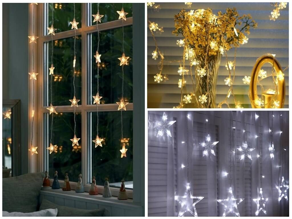 Гирлянда на окне, Украшение к Новому году