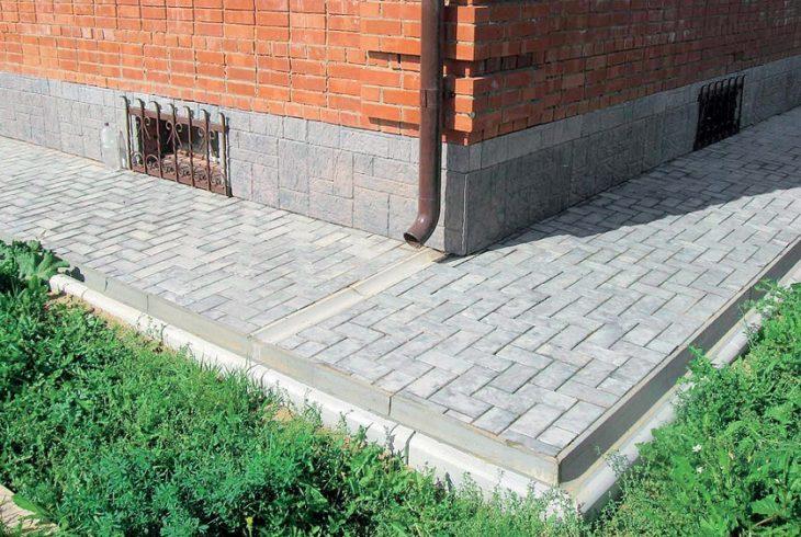 Пример бетонной брусчатки