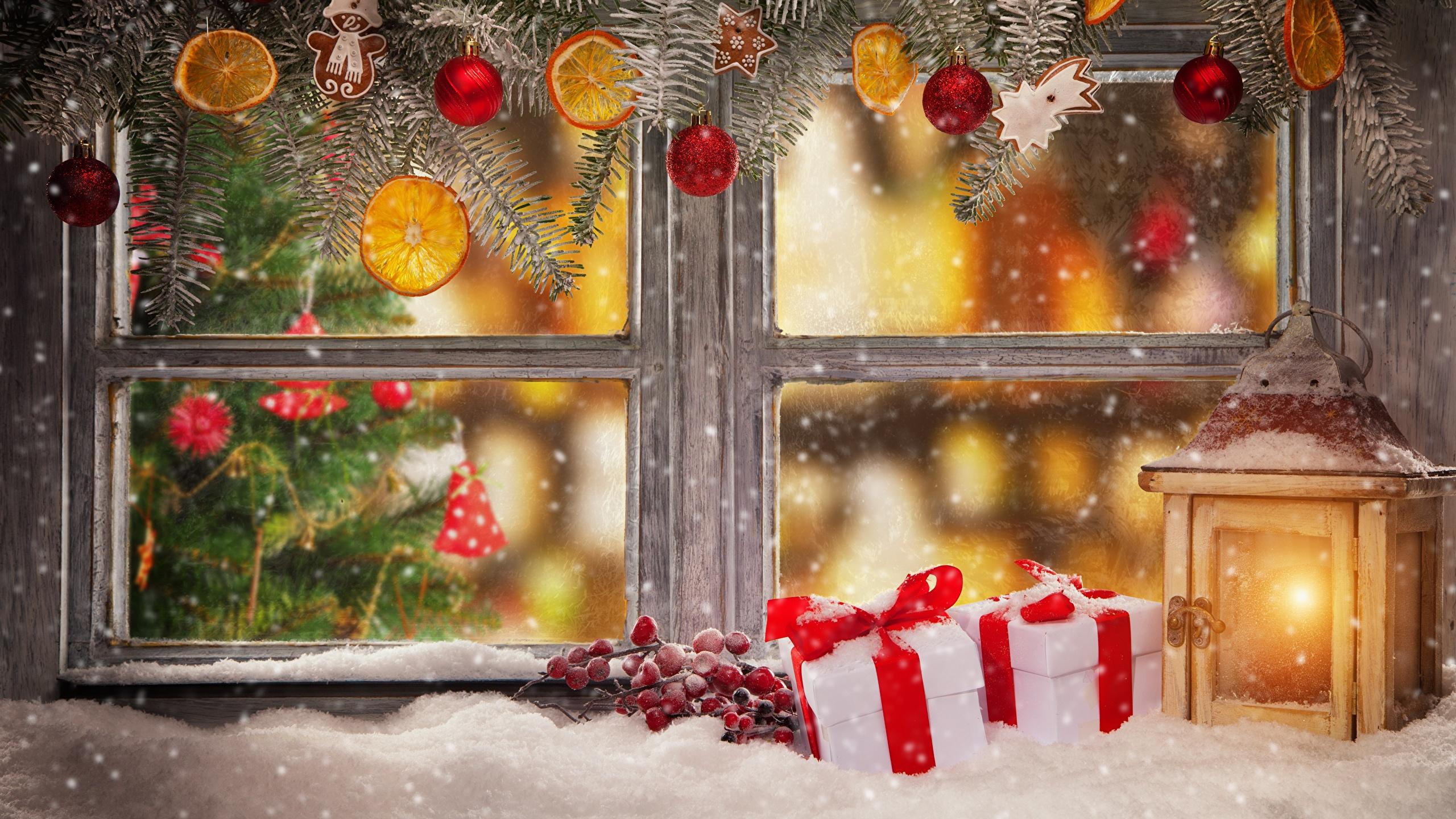 Новый год, Украшение окна