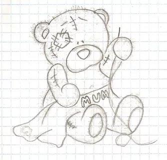 Рисунок грустный медведь