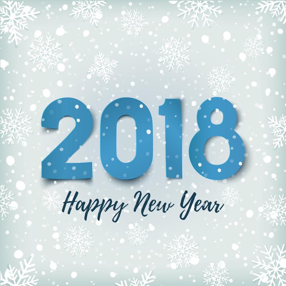 Картинки с надписями поздравления с новым годом 2018