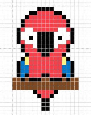 Красный-попугай