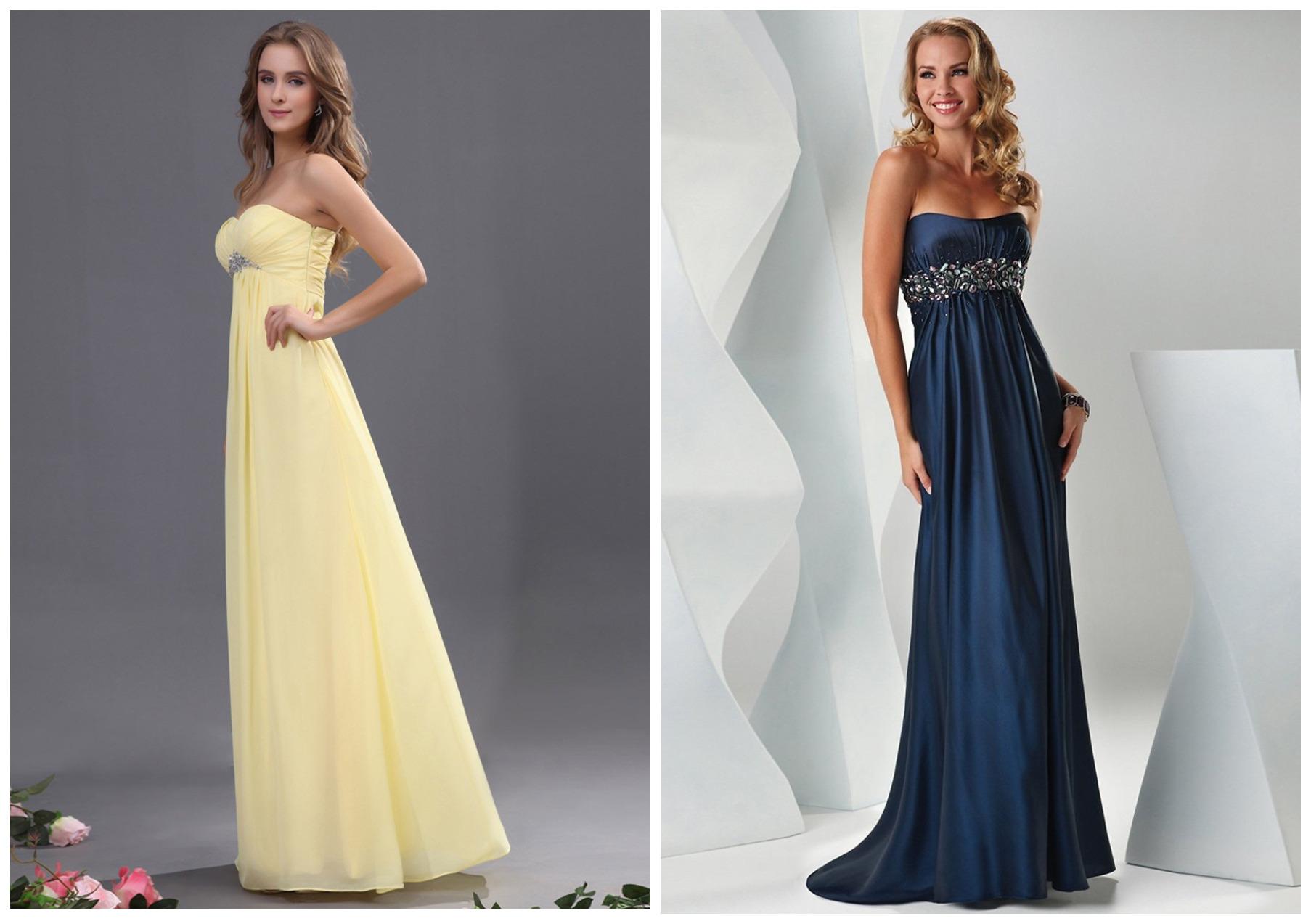девушки в желтом и синем платьях
