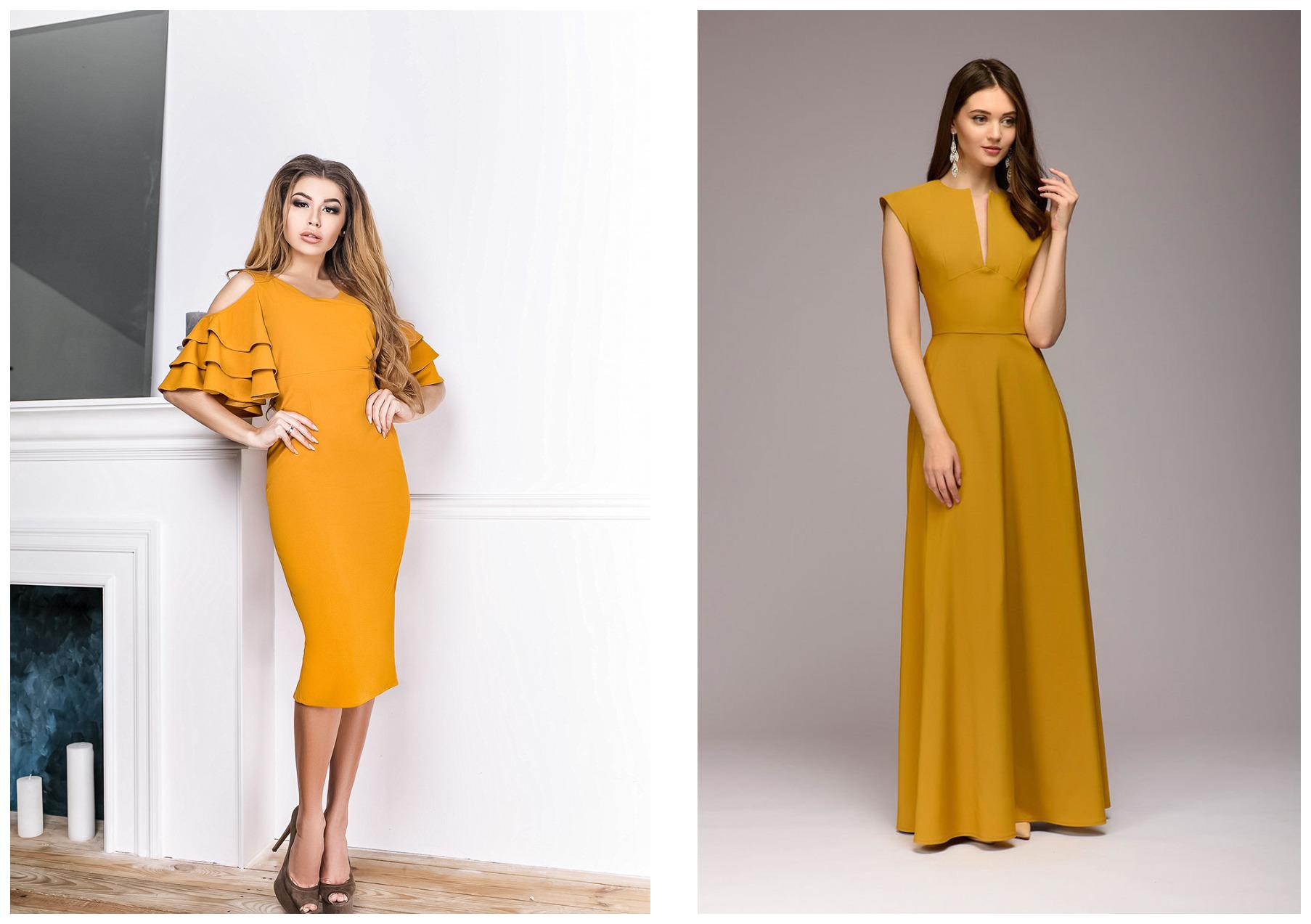 девушки в желтых платьях