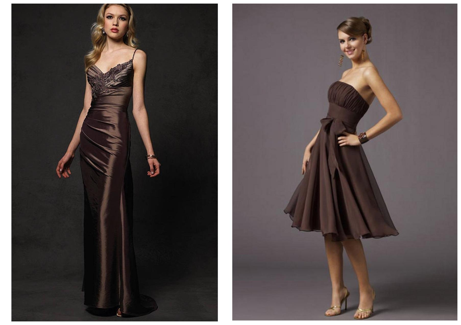 девушки в шоколадных новогодних платьях