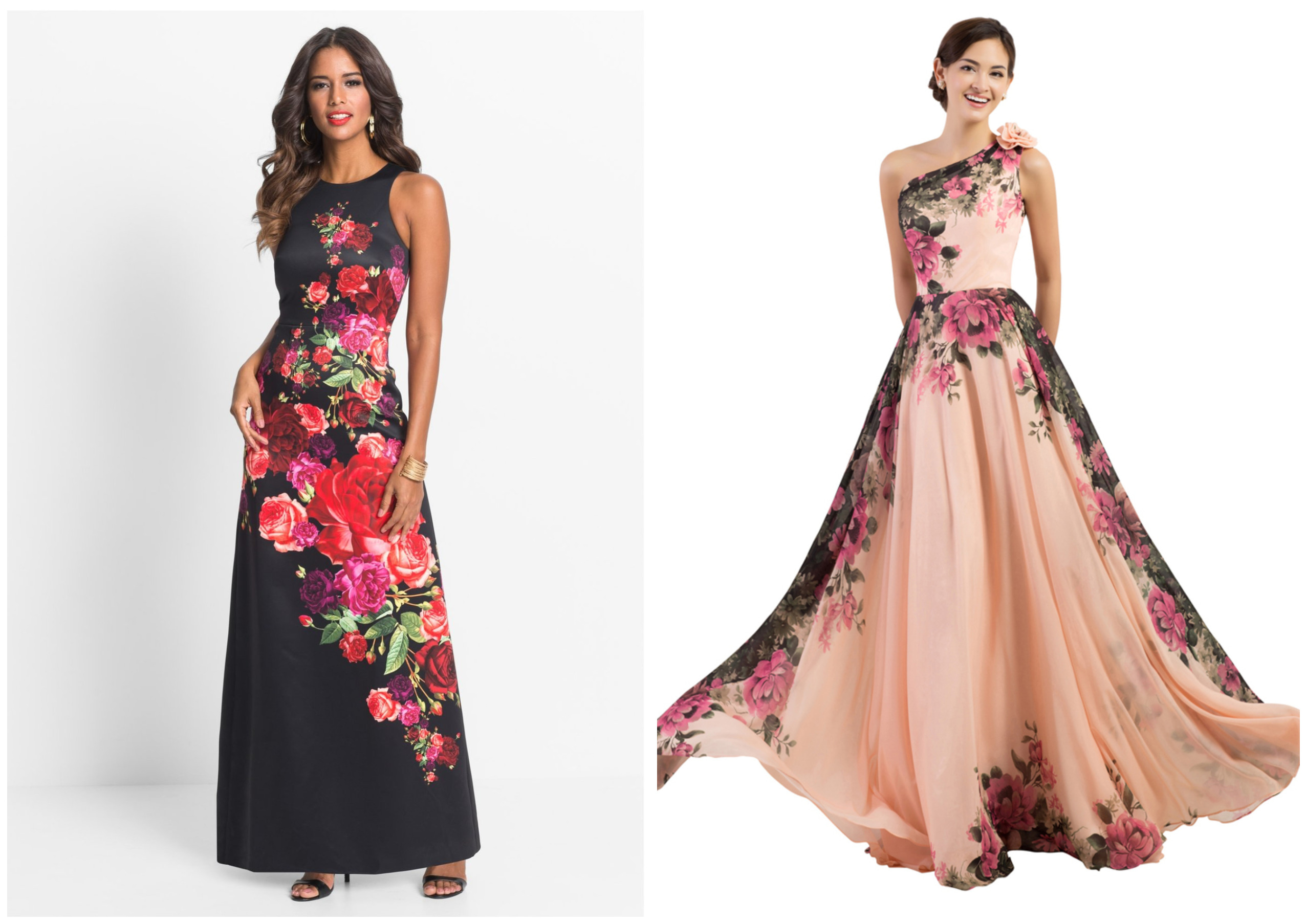девушки в цветочных платьях