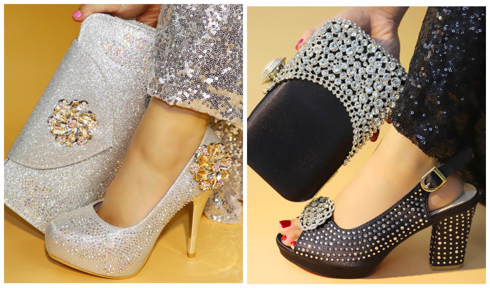 однотонные обувь и сумочка