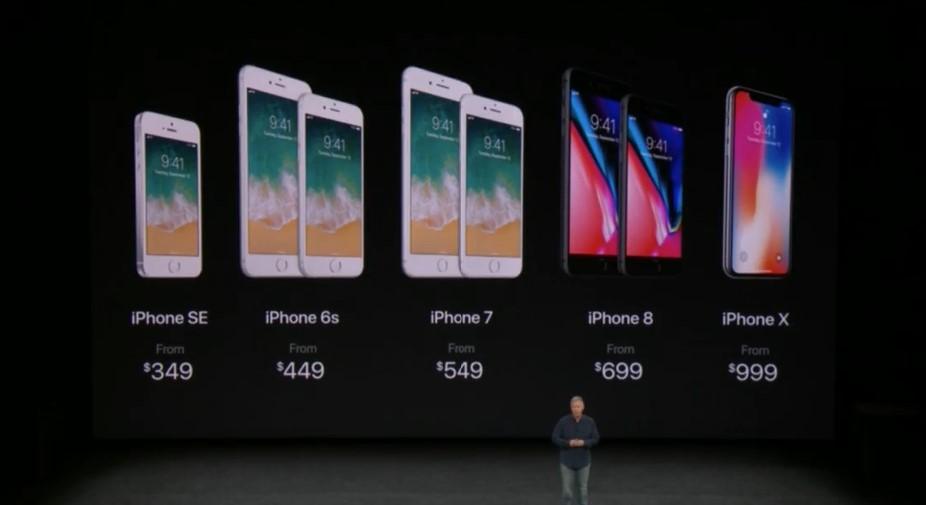 Цены на iPhone 8 и iPhone X