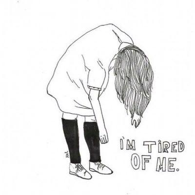девушка устала