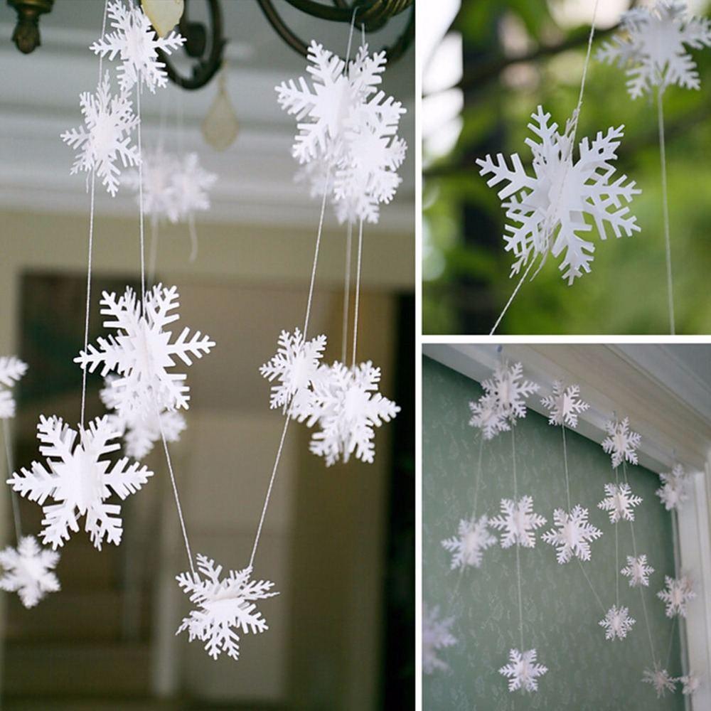 Гирлянда из снежинок, Украшение к Новому году