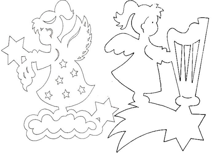 Шаблоны ангелов для вырезания