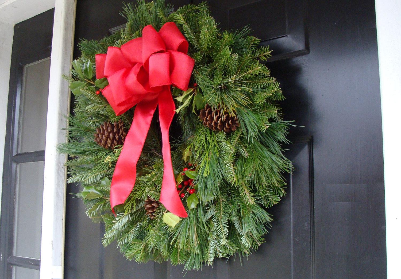 Новогоднее украшение для двери