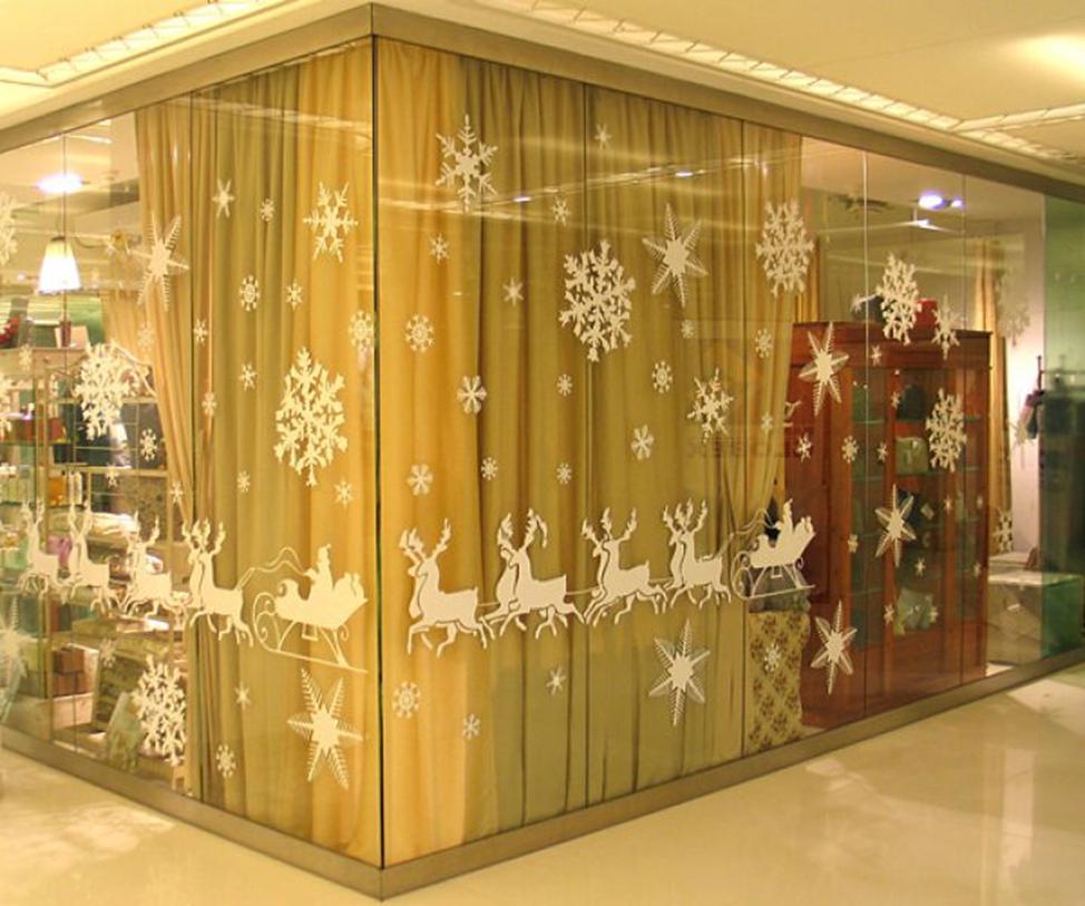 Новогодние украшения для магазина