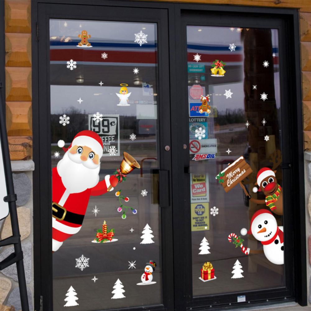 Новогодние украшения на дверях