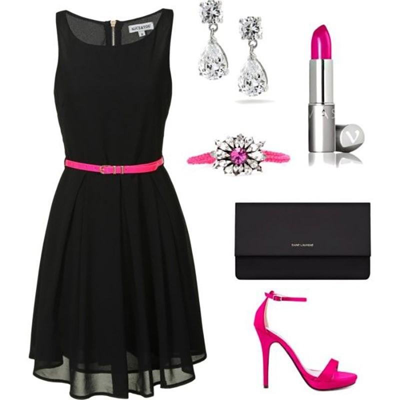 черные платье и аксессуары
