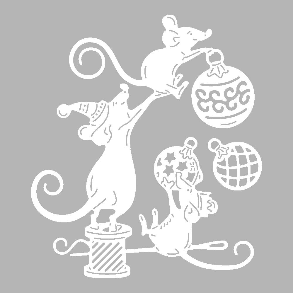 Крыса из бумаги на новый год