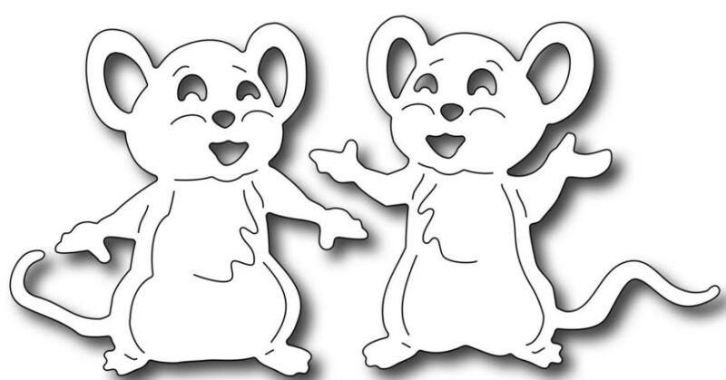 Веселые мыши трафарет