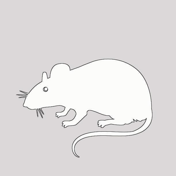 Крыса для вырезания из бумаги